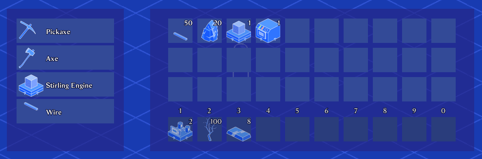 Screenshot of the resulting inventory